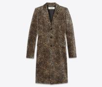 """Chesterfield""-Mantel mit Mini-Leopardenprint"