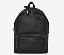 City Faltrucksack aus weichem, schwarzem Leder