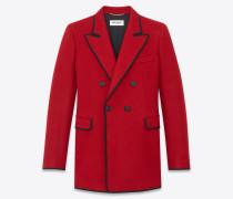 Doppelreiher-Blazer aus roter Wolle