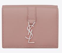 Petite YSL Portemonnaie aus sanft pinkem Leder