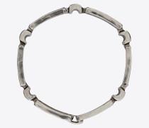 Bracelet with rectangular links in brass