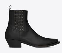 LUKAS Stiefel aus schwarzem Leder mit Nieten