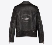 """Bird"" Biker-Jacke aus Vintage-Narbenleder"