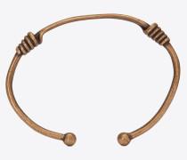 TRIBAL gewickelter Knoten-Torque-Armreif aus Metall