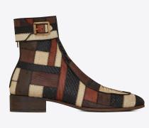 MILES Stiefel aus Patchwork aus exotischem Leder