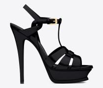 tribute 105 sandale aus schwarzem lackleder