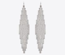 SMOKING Mesh-Ohrringe aus Metall und Kristallen