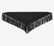 Triangel-Schal aus Mousselin mit indischer Stickerei