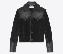 Western-Jacke aus Veloursleder und Leder