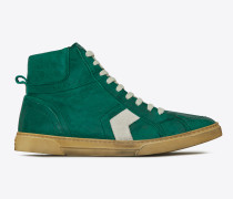 halbhoher joe sneakers aus gebrochen weißem vintage-leder