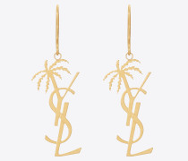 Monogram palm earrings in metal