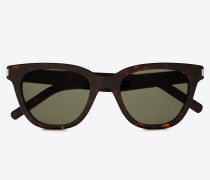 Schwarze und grüne Sonnenbrille CLASSIC 51 SMALL