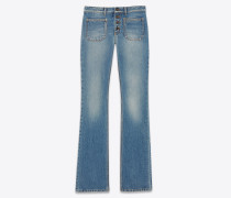 Flared jeans in seventies blue denim