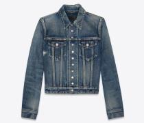 Jeansjacke Miami Blue mit 13 Druckknöpfen