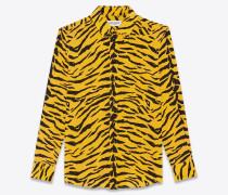 Crêpe-de-Chine Bluse mit Zebra-Print