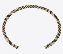 Double-twist bangle bracelet in brass
