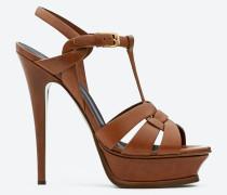 tribute 105 sandale aus bernsteinfarbenem leder