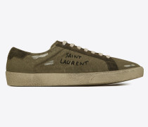 COURT CLASSIC SL/06 Sneaker aus Destroy-Canvas mit Stickerei