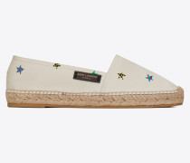 Espadrille aus Canvas mit originellem Sternprint