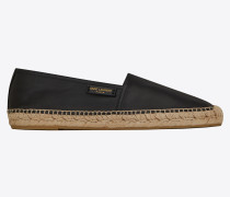 Espadrille in smooth leather