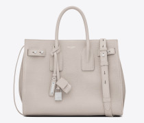 small sac de jour souple bag in icy white white grained leather
