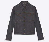 Indigofarbene Raw Denim Jacke