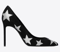 ANJA pumps in suede decorated with stars