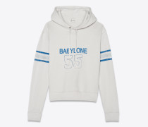 Babylone Kapuzen-Sweatshirt aus ausgewaschenem ecrufarbenem Baumwollfleece