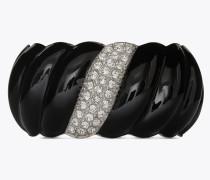 Twisted bracelet in brass and enamel