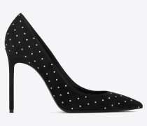 ANJA pumps in suede decorated with studs