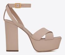 farrah 80 sandale aus hellrosa leder mit überkreuzten riemchen