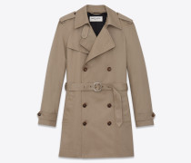 Western-style trench coat in safari gabardine