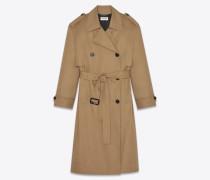 Oversize-Trenchcoat aus Baumwolle