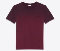 T-Shirt aus violettem Jersey