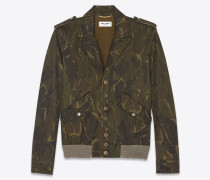 Bomberjacke mit Yves Saint Laurent-Militär-Camouflageprint