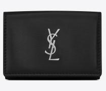 Kleines Monogramme Portemonnaie aus schwarzem Leder