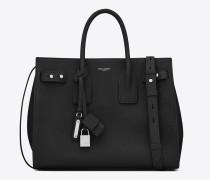 kleine, weiche sac de jour-tasche in schwarz