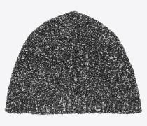Sequined lamé knit hat