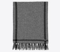 stole in Wool knit with houndstooth print