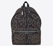 City Faltrucksack aus Nylon mit Leopardentupfen