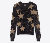 Jacquard sweater with lurex stars