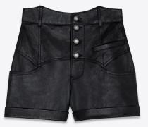 Western-Style Short aus glänzendem Lammleder