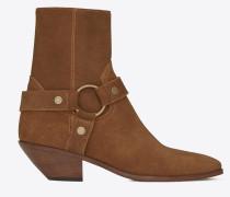 WEST Stiefel aus haselnussbraunem Veloursleder