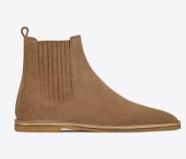 Nino Chelsea-Stiefel aus beigem Veloursleder