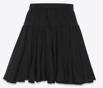 Gathered skirt in wool challis