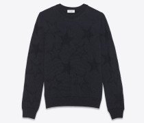 Jacquard sweater with stars in relief