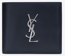Monogramme E/W Portemonnaie aus Glanzleder mit Münzfach