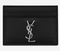 Monogram card case in smooth leather