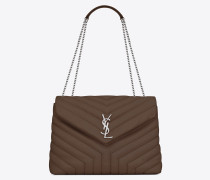 "Medium Loulou bag in ""Y""-quilted leather"