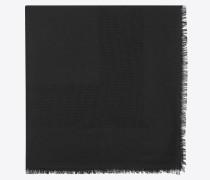 Breiter, quadratischer Schal aus schwarzem Jacquard